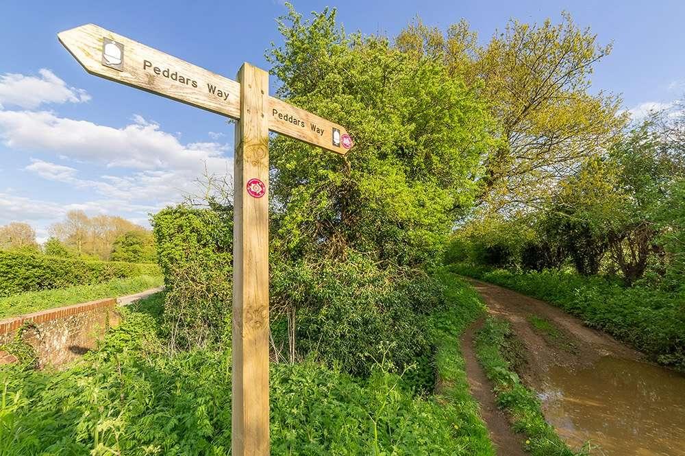 Peddar's Way sign post in Norfolk