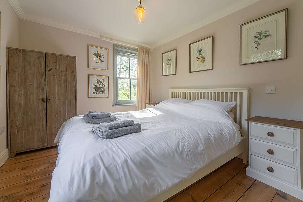 Double bedroom at Gardener's Cottage holiday accommodation in north west Norfolk
