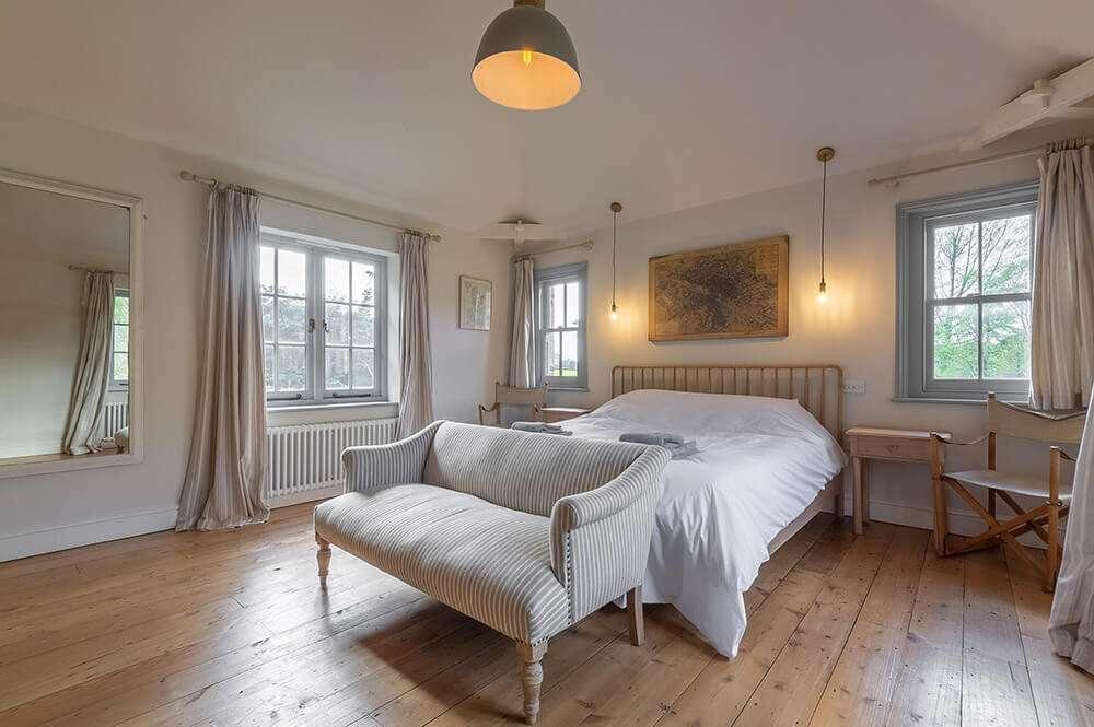 Double bedroom at Gardener's Cottage holiday cottage in Norfolk
