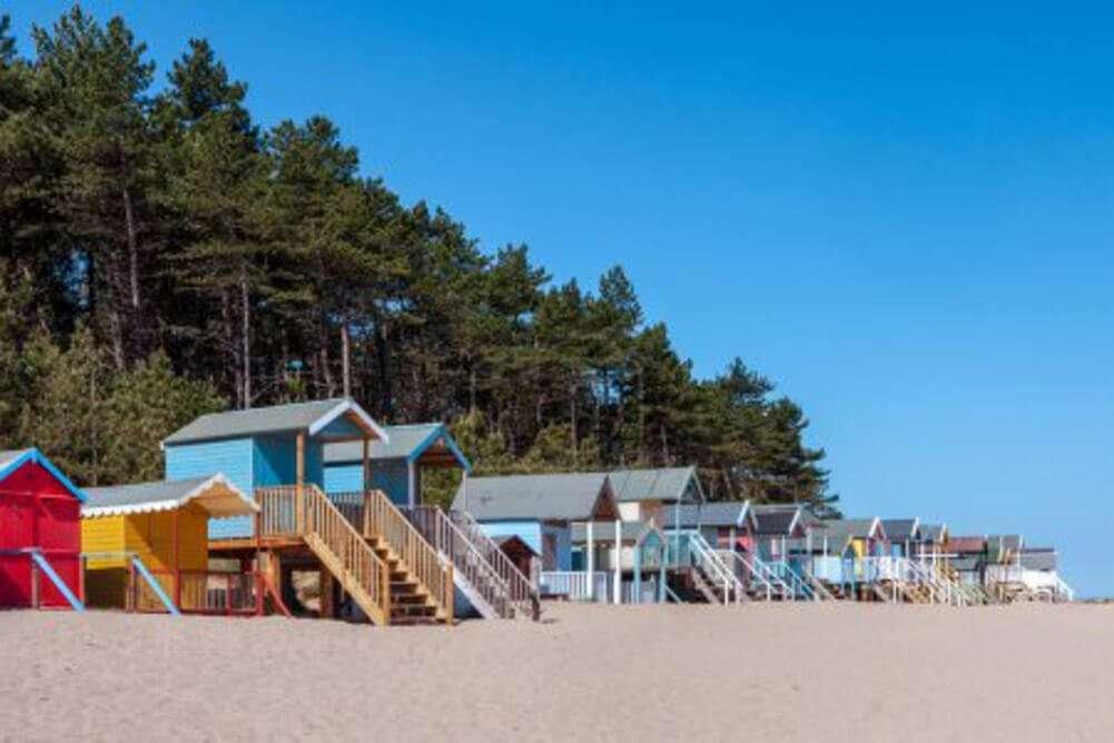 Wells-next-the-Sea beach huts in Norfolk