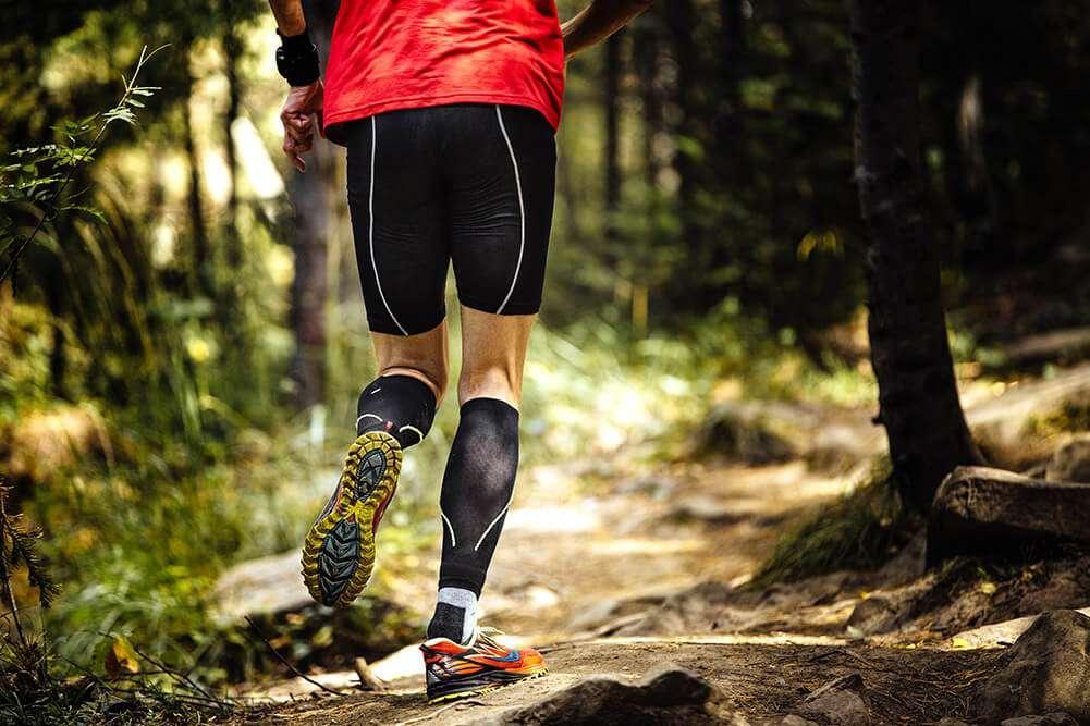 Running on trails around Fring Estate