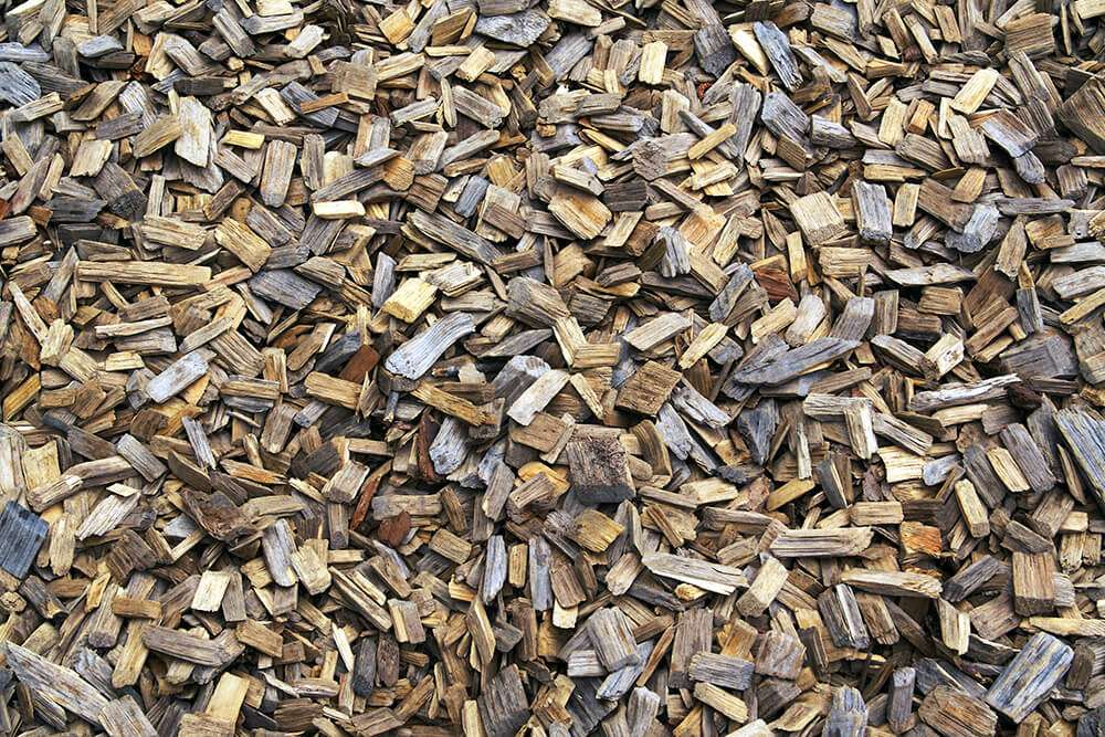Wood chip is produced on the Fring Estate
