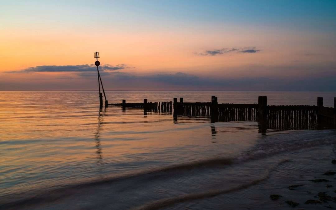 A beautiful sunset at Hunstanton Beach in North West Norfolk, a short drive or cycle from Fring Estate
