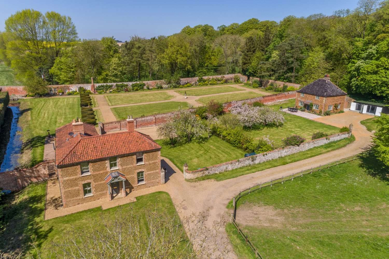 The stunning walled garden and estate holiday cottages at Fring in Norfolk