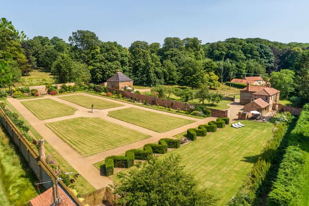 Fring walled garden - the perfect space for enjoying a group holiday
