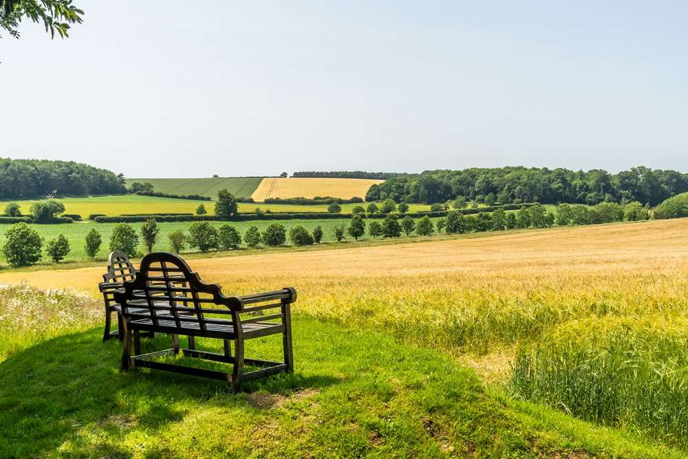 A holiday cottage with a view across the Norfolk countryside
