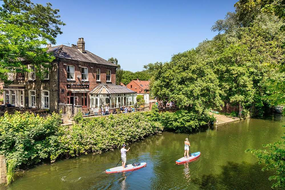 stand up paddle boarding in Norfolk