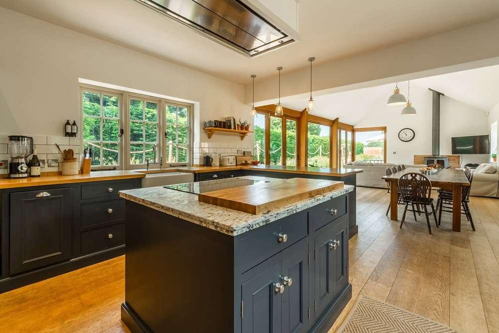 The kitchen at Gardener's Cottage holiday cottage in Norfolk